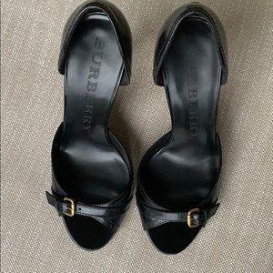 Black Burberry Heels in 37
